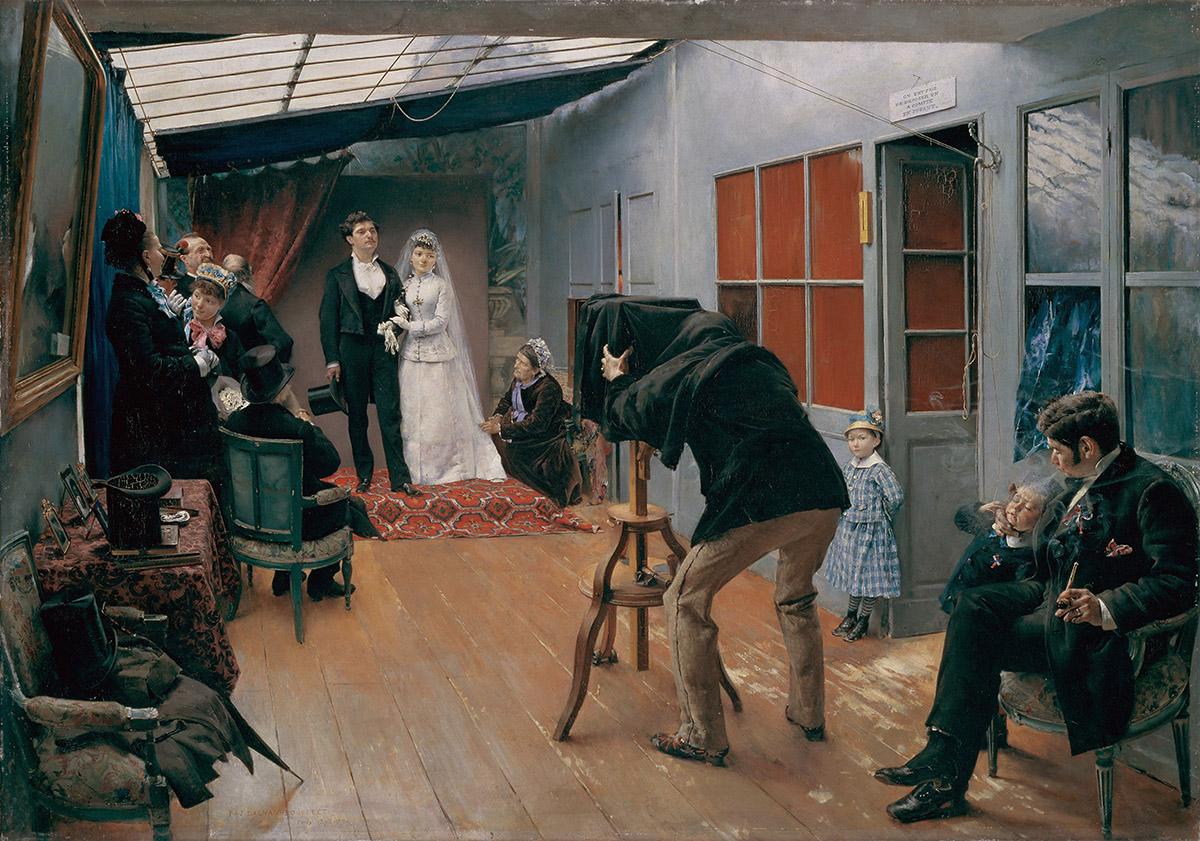 Une noce chez le photographe, Pascal Dagnan-Bouveret, 1879.