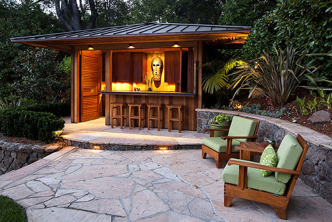 Whimsical Hillside Garden  Kentfield, California