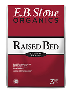E.B. Stone Raised Bed and Potting Mix  is an ideal soil for any raised bed. It can be used as a stand alone soil or mixed with garden soil. Our  Raised Bed and Potting Mix  is designed with carefully selected, premium ingredients.   READ MORE