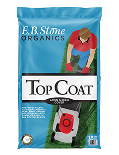 E.B. Stone Top Coat Seed Cover & Mulch  is a blend of wood products and mushroom compost that can be used as a mulch in the garden or as a seed cover for newly planted or renovated lawns.   READ MORE