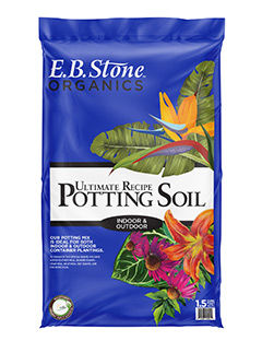 Ultimate Recipe Potting Soil  is an innovative blend of the finest quality ingredients available today. We've crafted a solid start for you to grow that indoor or outdoor container veggie, flower, or herb garden you've always wanted. This is a 100% natural and organic combination of aged fir bark, coir, sphagnum peat moss, pumice, and earthworm castings.   READ MORE