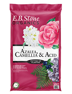 E.B. Stone Organics Azalea, Camellia & Acid Planting Mix  is a versatile mix that can be used as both a soil amendment or as a ready to use potting soil. Our Planting Mix is a special blend of organic ingredients designed to meet the unique growing needs of most acid-loving plants.   READ MORE