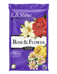 E.B. Stone Organics Rose & Flower Planting Mix  is a natural organic soil mix that was blended with the special growing requirements of roses in mind. It is a slightly acidic soil mix and contains just the right ingredients to get roses off to a good start.   READ MORE