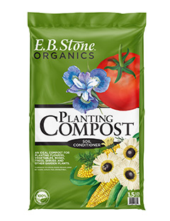 E.B. Stone Planting Compost  is a genuine compost. This special blend of ingredients were combined to make this an all-purpose outdoor planting mix. Our Planting Compost is blended for use in all soil types and for all types of outdoor gardening.   READ MORE