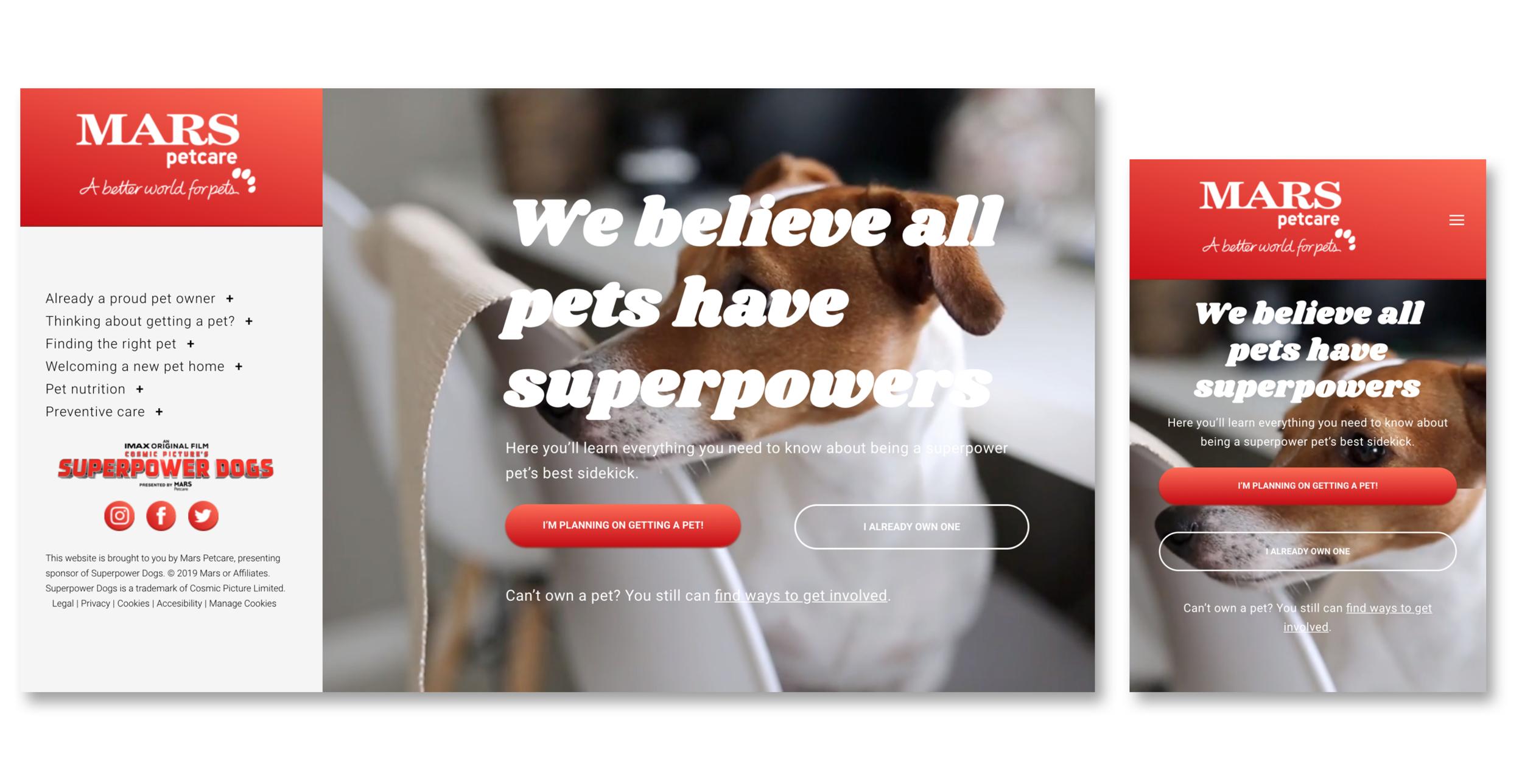 Mars Petcare - User Experience Designer