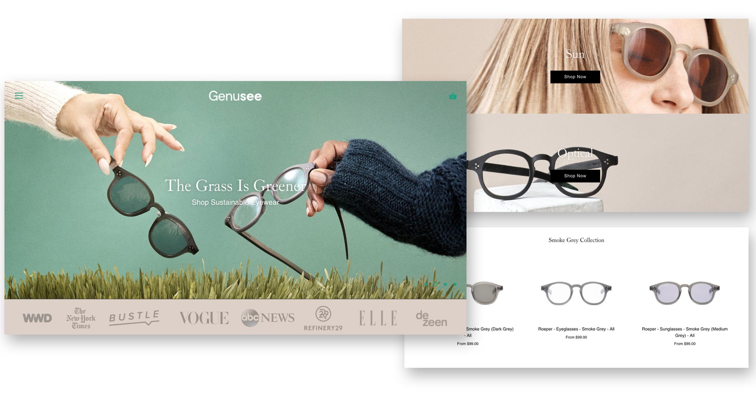 Genusee Eyewear - User Experience Designer & Strategist