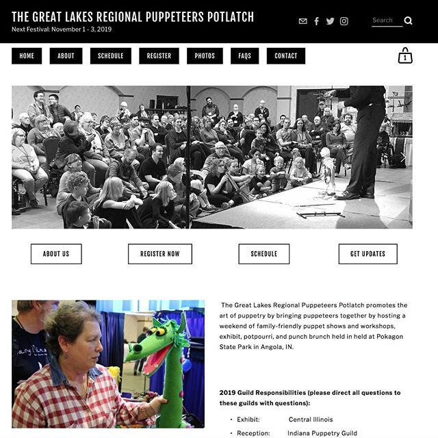 The Great Lakes Regional Puppeteer's Potlatch website is officially launched! Register now for November 1st-3rd, 2019. 📝 https://www.puppeteerspotlatch.org