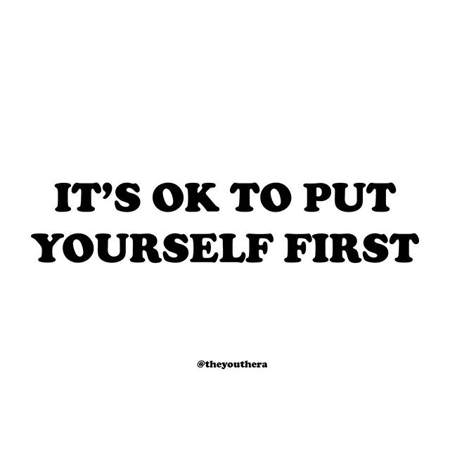 Putting yourself first is not selfish, it's necessary. Think of it like this - you can't pour from an empty cup. To truly be there for others, you first need to be there for yourself. Try to focus on what you need to be the best you can be! • If you need someone to talk to, don't hesitate to reach out. Text 'teen2teen' to 839863 or visit us at one of our drop-in centers. Send us a DM or visit our website (in bio) to find a location near you. • #itsokaytoreachout