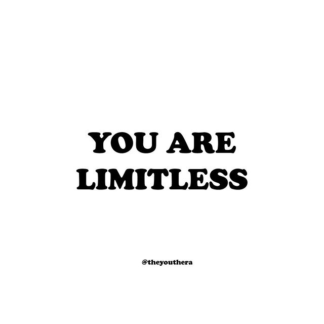 "Remember that your potential is limitless. You have the power to achieve your goals and turn your imagined future into reality. You can break through every doubt and fear telling you that you're not enough - you are enough. Now take a deep breath and say it out loud - ""I am limitless."" • If you're struggling and need someone to talk to, please don't hesitate to reach out. Text 'teen2teen' to 839863 or visit us at one of our drop-in centers. Send us a DM or visit our website (in bio) to find a location near you. • #itsokaytoreachout"