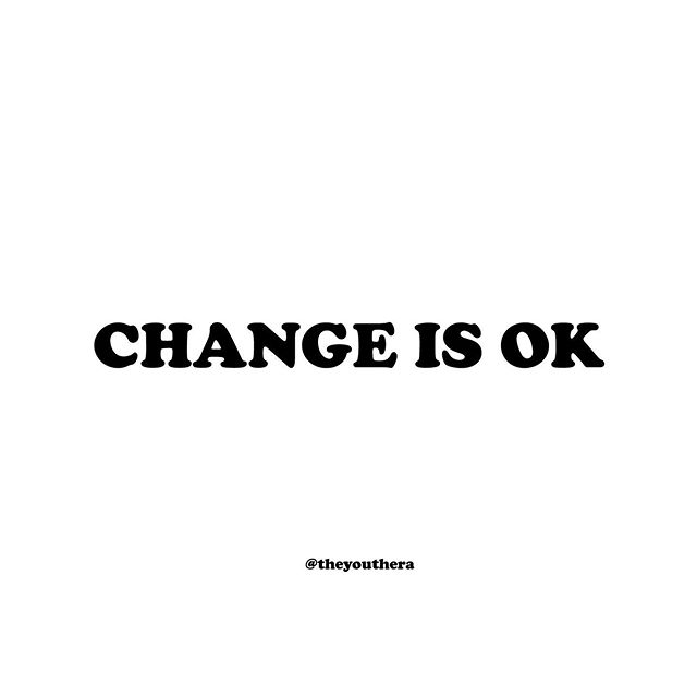 Change can be scary. To accept change, we first need to remind ourselves that it happens all the time. Remember that change is what brought you here. Without it, you wouldn't be who you are today - and who you are is incredible. • If you're struggling and need someone to talk to, please don't hesitate to reach out. Text 'teen2teen' to 839863 or visit us at one of our drop-in centers. Send us a DM or visit our website (in bio) to find a location near you. • #itsokaytoreachout