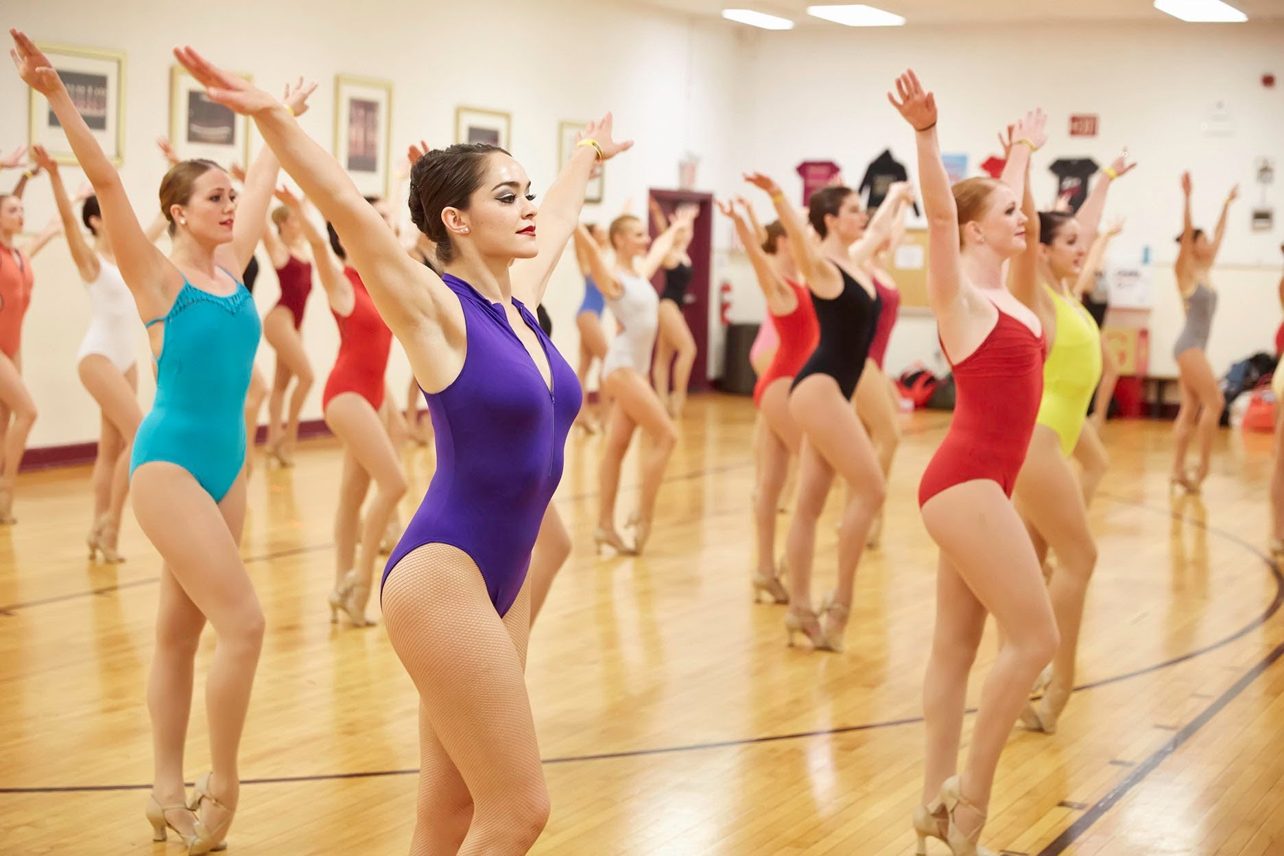 Sometimes auditions allow colorful clothing, like The Rockettes!