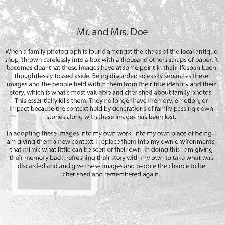 Artists Statement- Mr. and Mrs. Doe