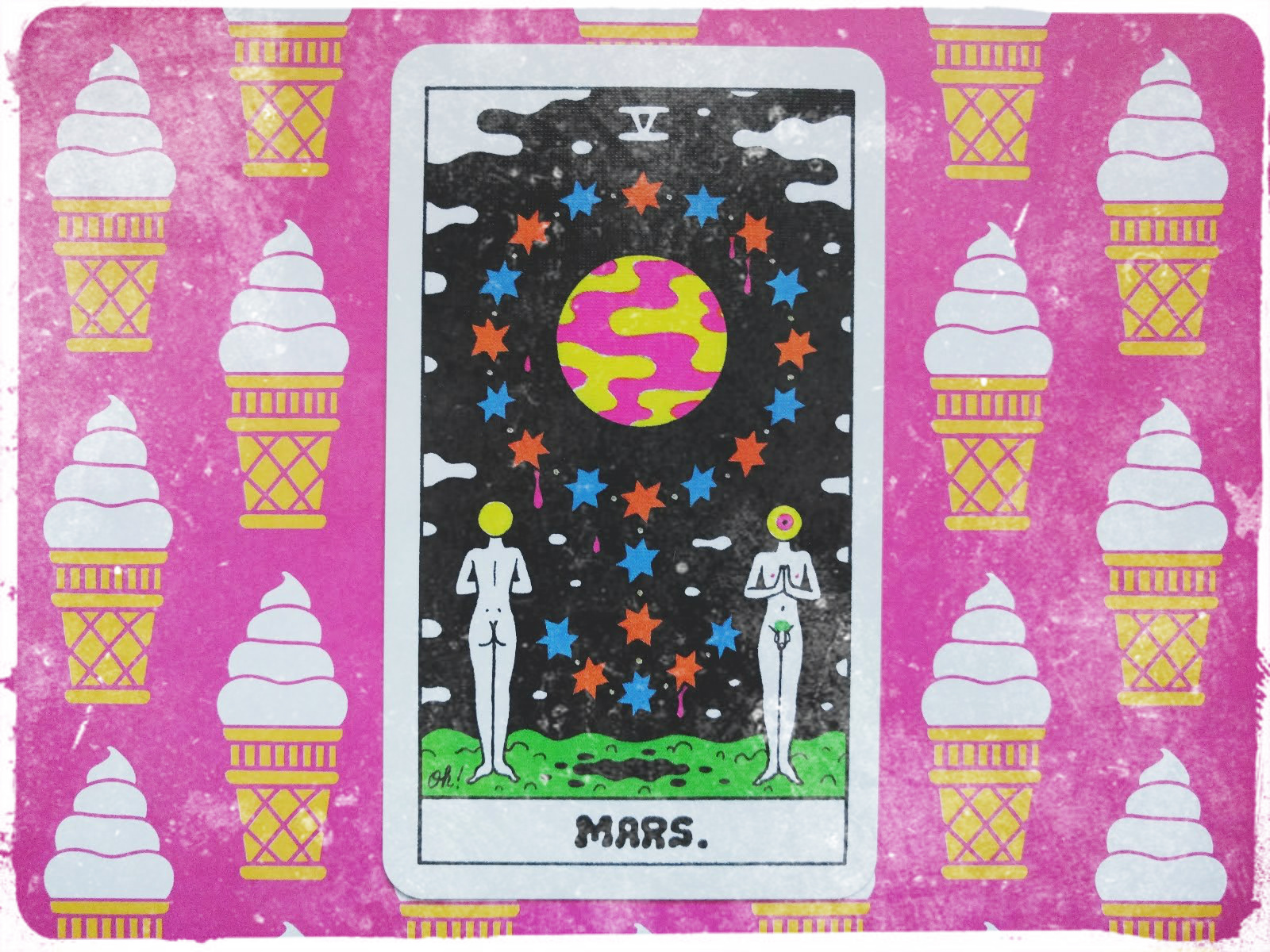 Mars  card from the Secret Arcana Oracle