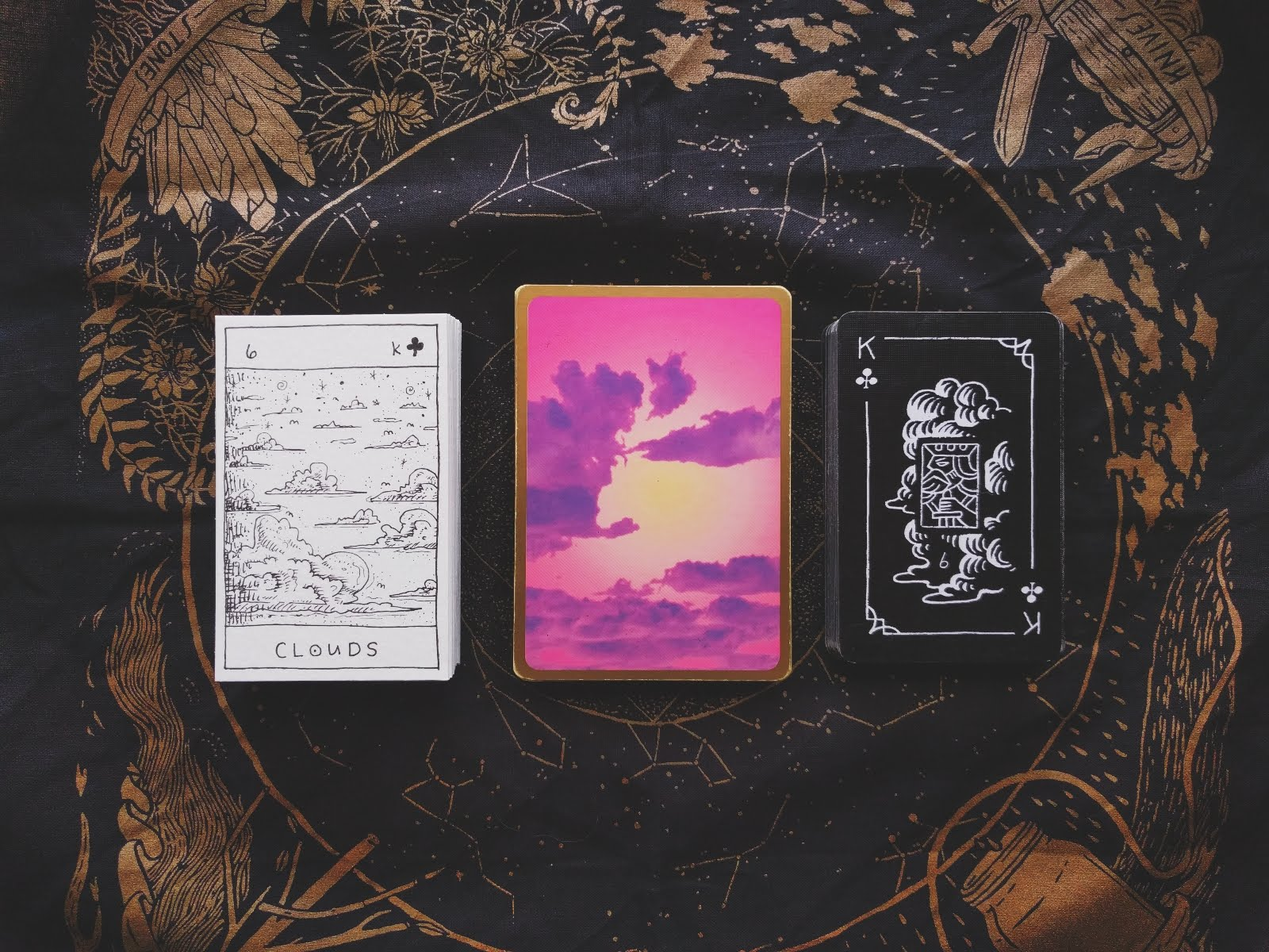 DECKS:  The Monster Lenormand (I made) - Titania's Fortune Cards - Blackhand Lenormad