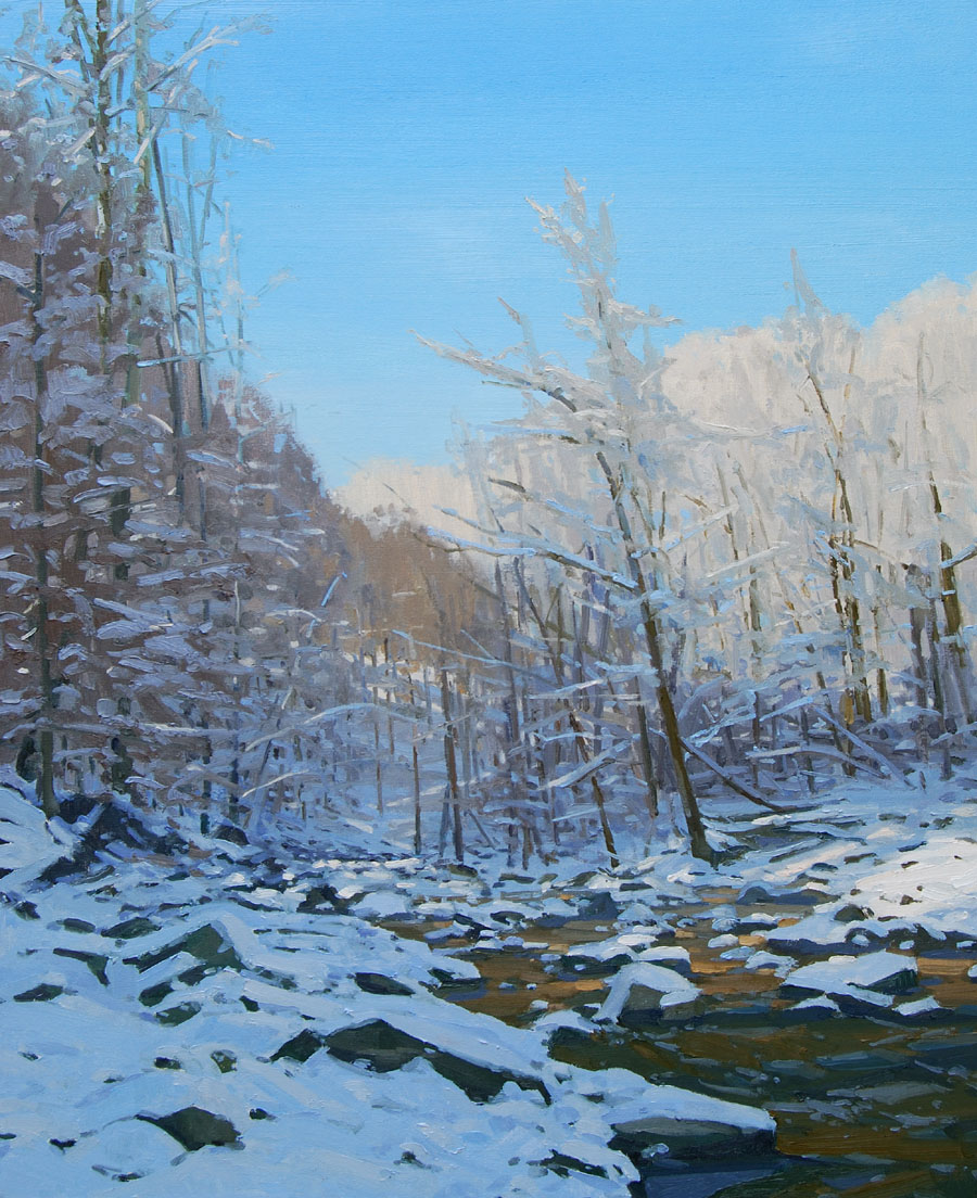 Landscape with Creek and Snow, sml.jpg