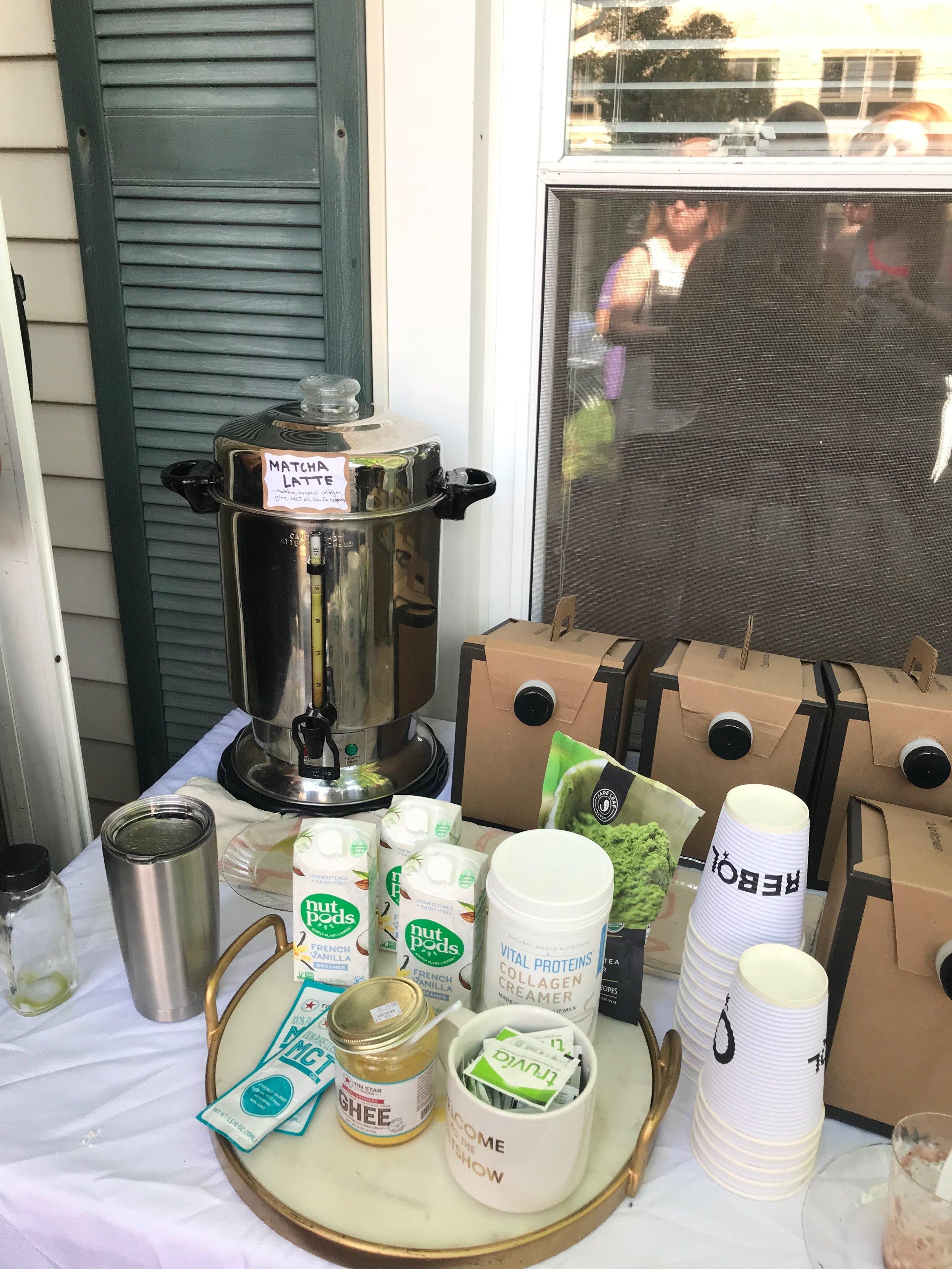 Matcha bar set up at Danika Brysha's Summer 2018 Brunch Series in CLE
