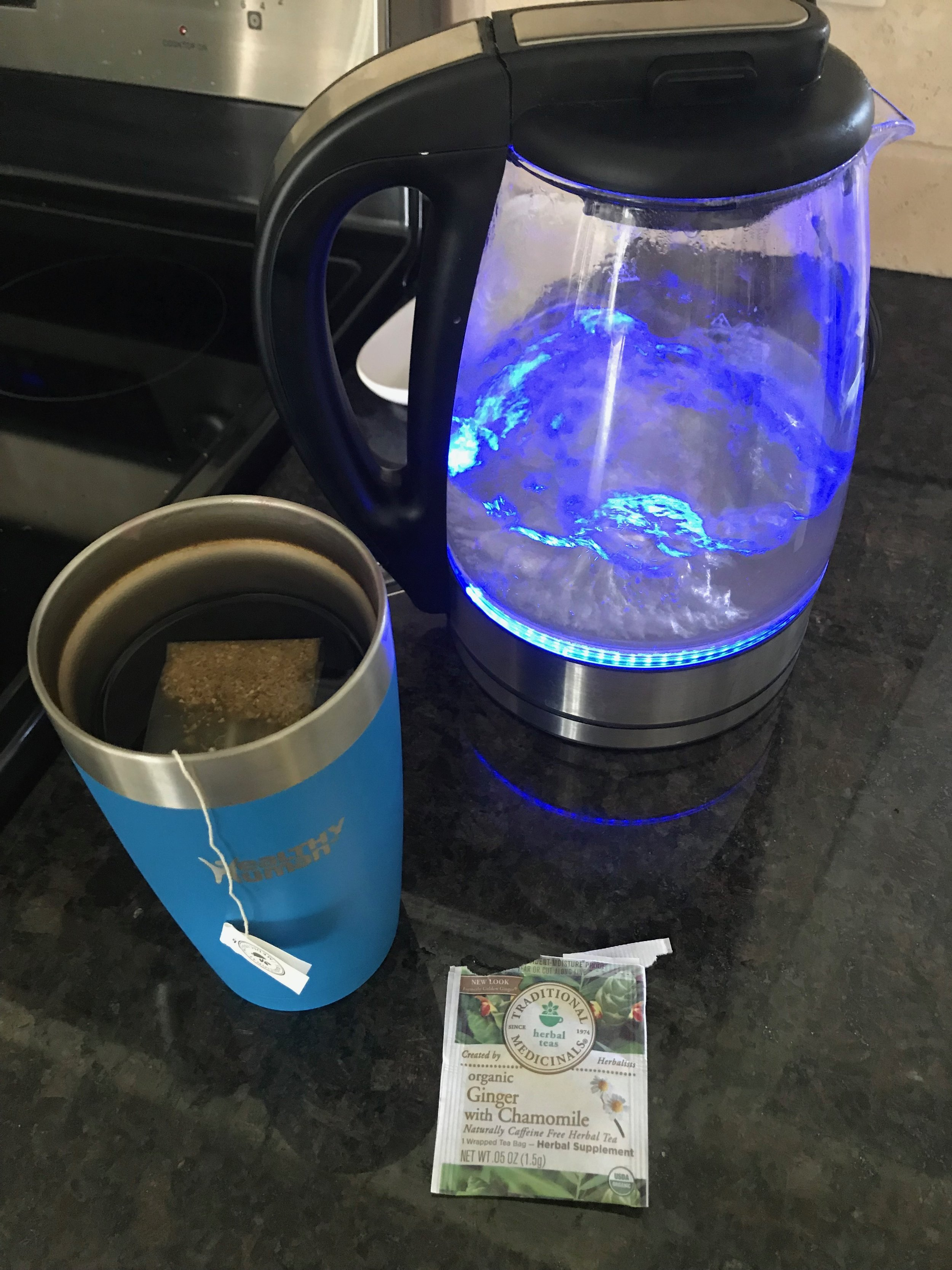 Electric tea pot is by Cusimax. You can shop it on Amazon  here !