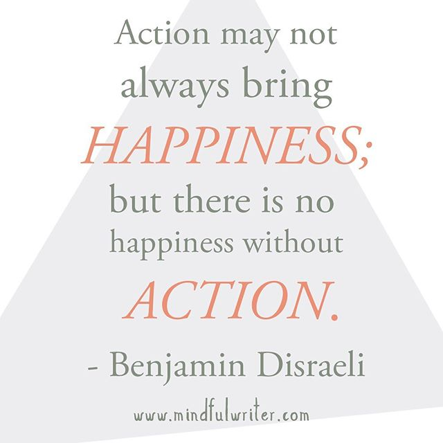 An action can be as small as meditating in the morning or as big as moving across the country. It can be a practical step or a leap of faith. - I do believe actions can bring happiness, but I think it's important to note that the concept is not absolute. Sometimes small actions we had no expectations of end up making us happy and other times big actions we think will make us happy just plain don't! - It's easy to fall into a trap of feeling as if we have to be proactive to get what we want. Actions do inevitably bring about change. But sometimes it's also good to think about what changes have happened when you decided to let go and see what comes your way. - It's a balance, an interplay of being intentional and also accepting that we can't fully know exactly what to do all the time. - Today visualize your big goals, but also think about the little daily actions that fill you up. 💫 -  #thoughtfulthursday #happiness #takeaction #qotd #inspiration