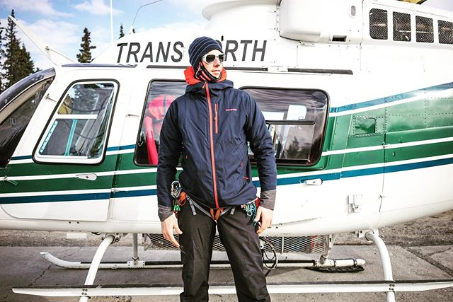 @leifwhittaker posing down so HARD before taking off for the Cathedral Glacier in 2015. #mtkennedy #yukon #mountaineers
