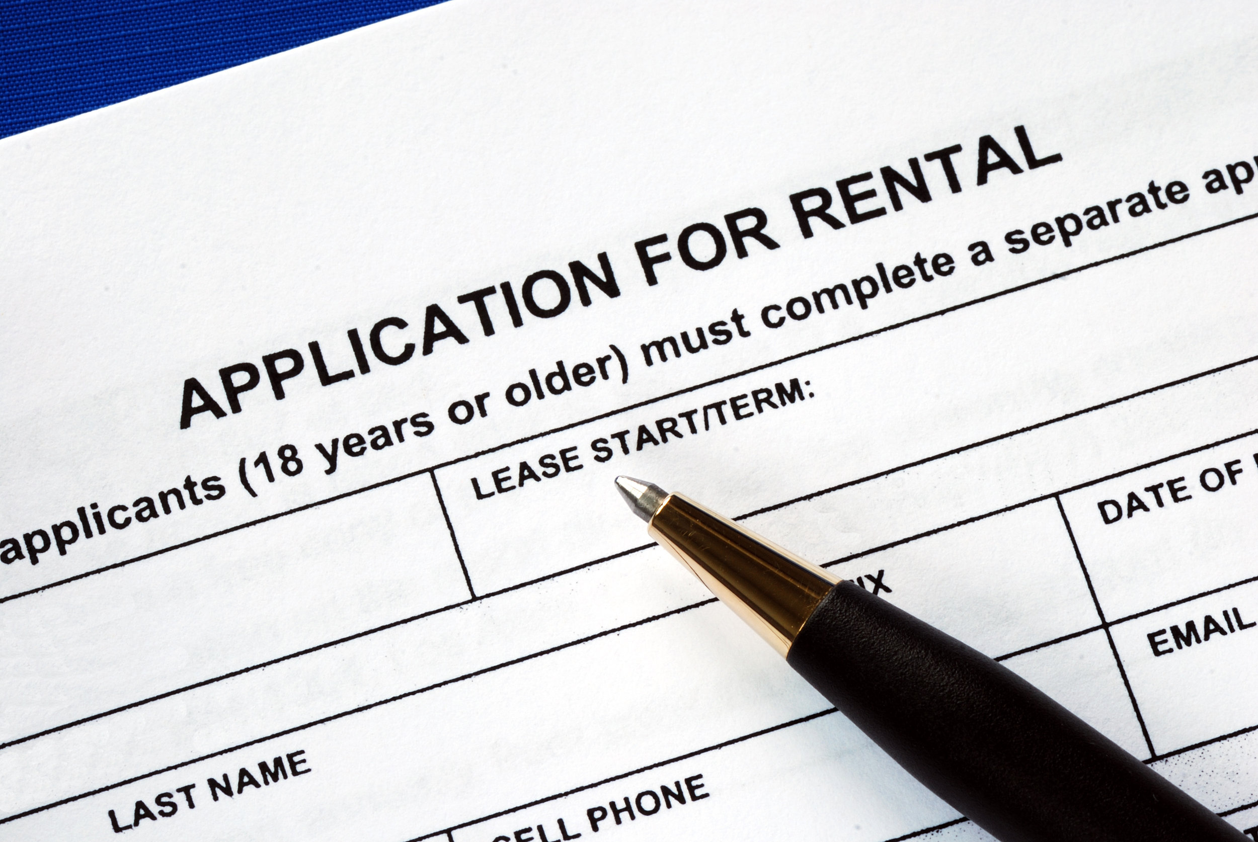 Rental property tenant screening process