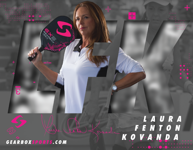 """Laura Fenton Kovanda - Laura Fenton Kovanda is a 4-time U.S. Open Gold Medalist and 2-time Pro Finalist in the sport of Pickleball. She has also won numerous Gold, Silver and Bronze medals at both the USAPA National Championships and the Tournament of Champions, as well as won over 45 5.0-level tournaments.What many don't know about Laura is that she is also a National Champion in four other sports (basketball, softball, tennis & racquetball) and was a member of the U.S. National Racquetball Team for 15 years in her 30's and 40's. She holds 5 World titles, 33 National titles, 2 World Pro-Mixed Titles, 2 Pan American Games Gold Medals, and was ranked in the Top 4 on the Women's Professional Racquetball Tour for 11 years. She held the #1 ranking at the age of 44 for 3 months.But what makes Laura a great Pickleball Instructor? Her background as a college professor over the past 30 years in kinesiology, exercise science, sports psychology, neuroscience and athletic training, combined with her own athletic background, gained her recognition in teaching and training high school, college, professional and Olympic athletes in over eight different sports. She has also been a motivational speaker and sports broadcaster, and now we are very fortunate in that she brings a very different """"geometrical, biomechanical and kinesiological view"""" to the game of Pickleball."""