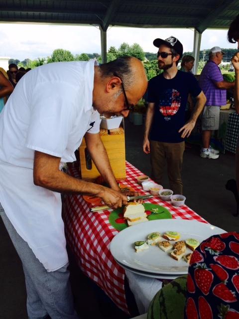 Chef Vish at the Market