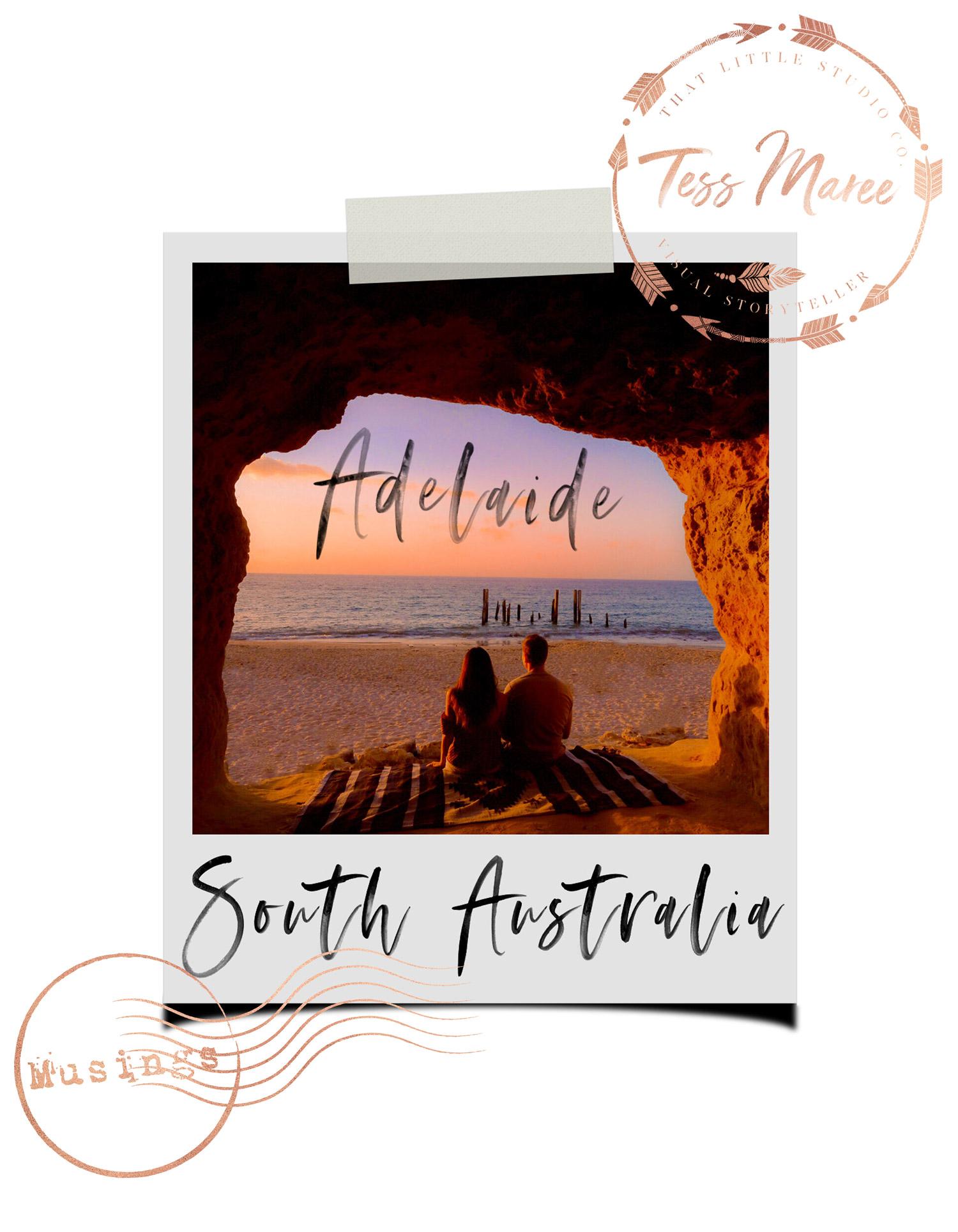 Tess Maree Musing Adelaide South Australia Polaroid