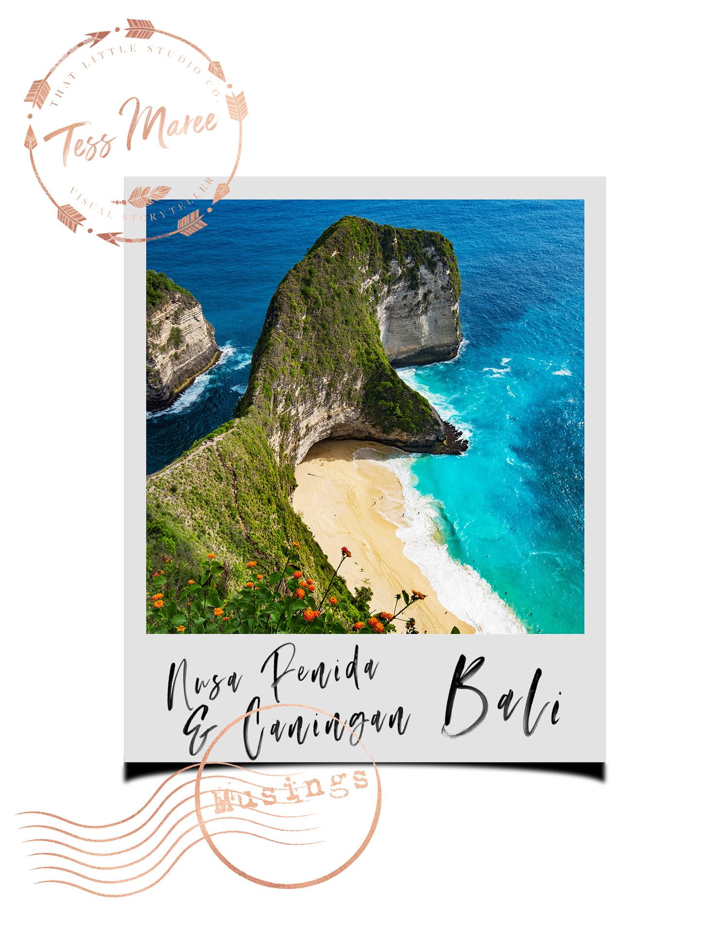 Tess Maree Musing Nusa Penida Bali Indonesia Polaroid