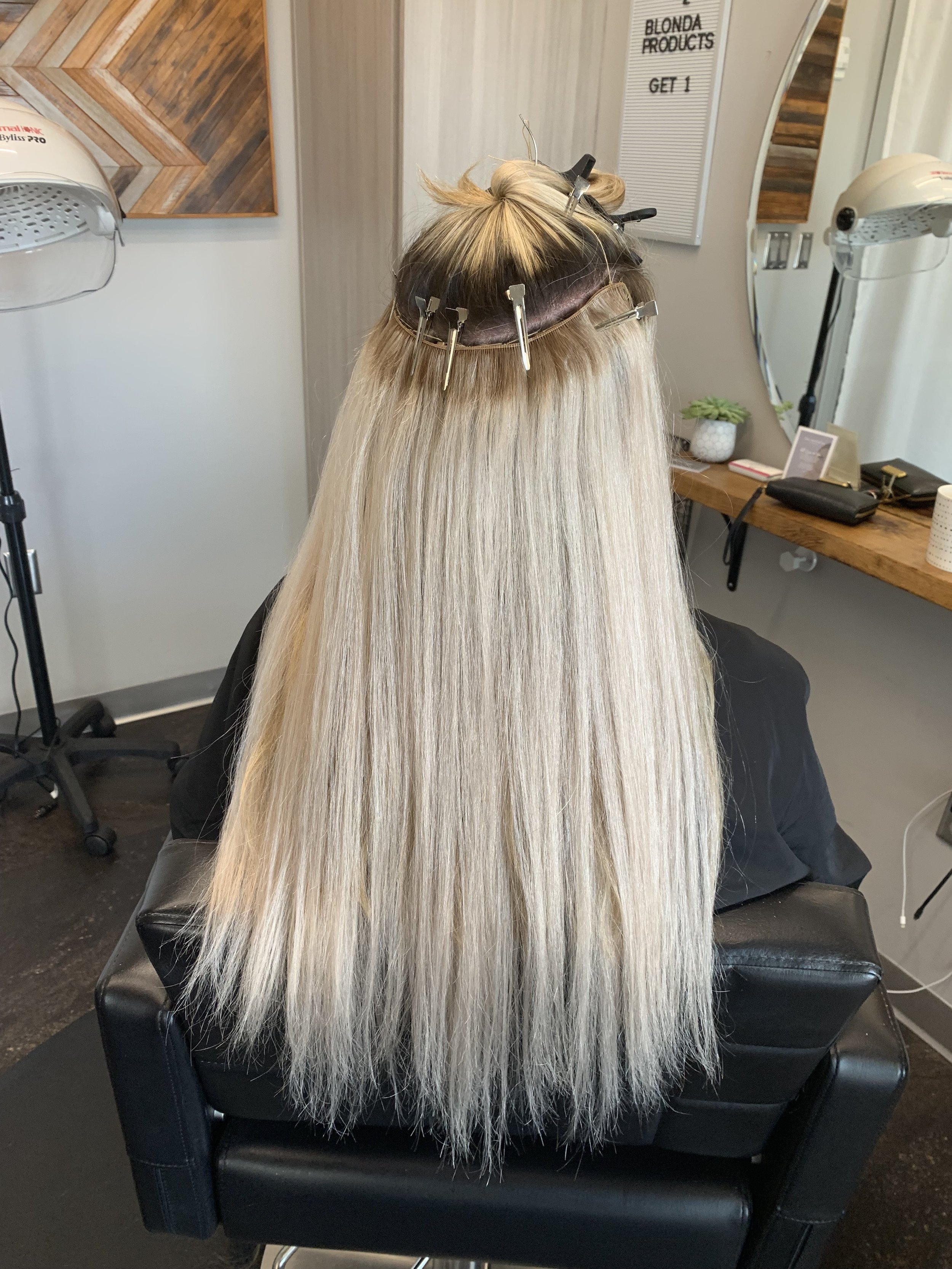 Beaded row hair extensions bohemy salon lake mary florida how to.jpg