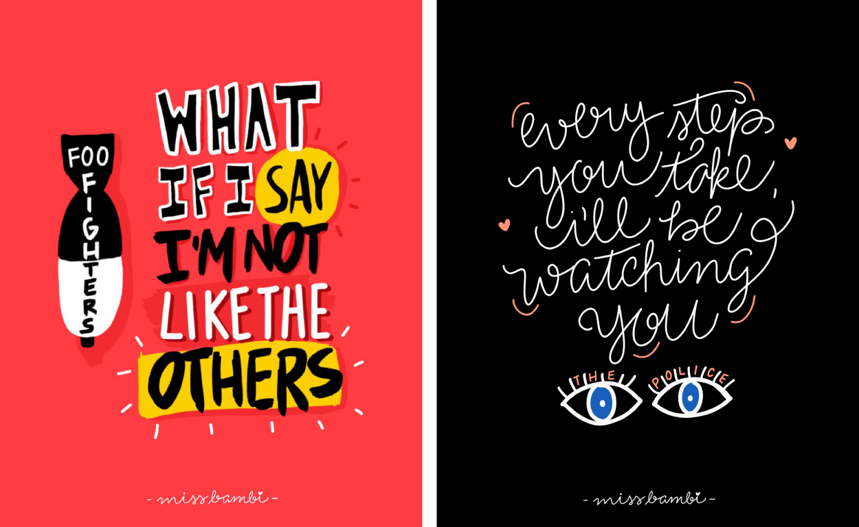 101 Song Posters Miss Bambi Quotes