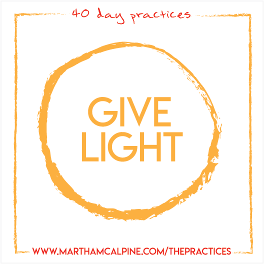 Created for Martha McAlpine's 40 Day Practices, a series on online yoga videos.