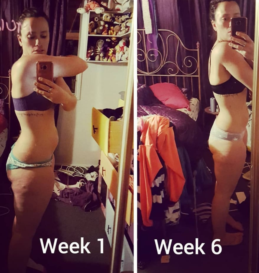 """Toni- """"Loved how quickly I toned up over the 6 weeks. Less bloating was a massive change."""""""