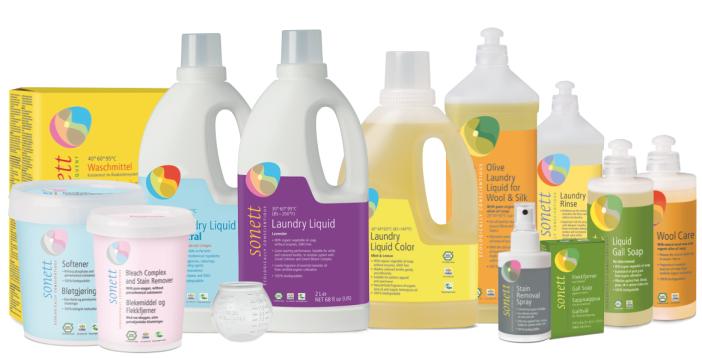Sonett laundry product range .png