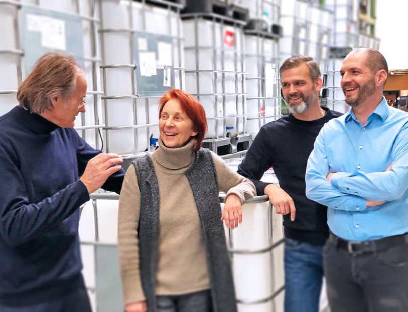 A foursome as of recently: Executive managers Gerhard Heid, Beate Oberdorfer, Oliver Groß, Andreas Roth (from left to right)