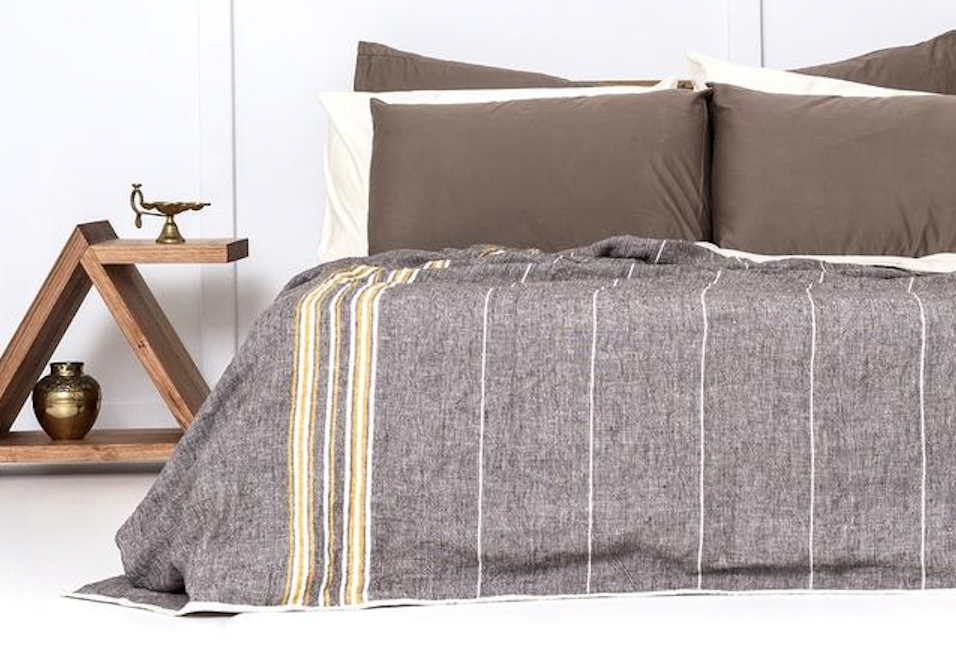 Linen blanket from  Bhumi