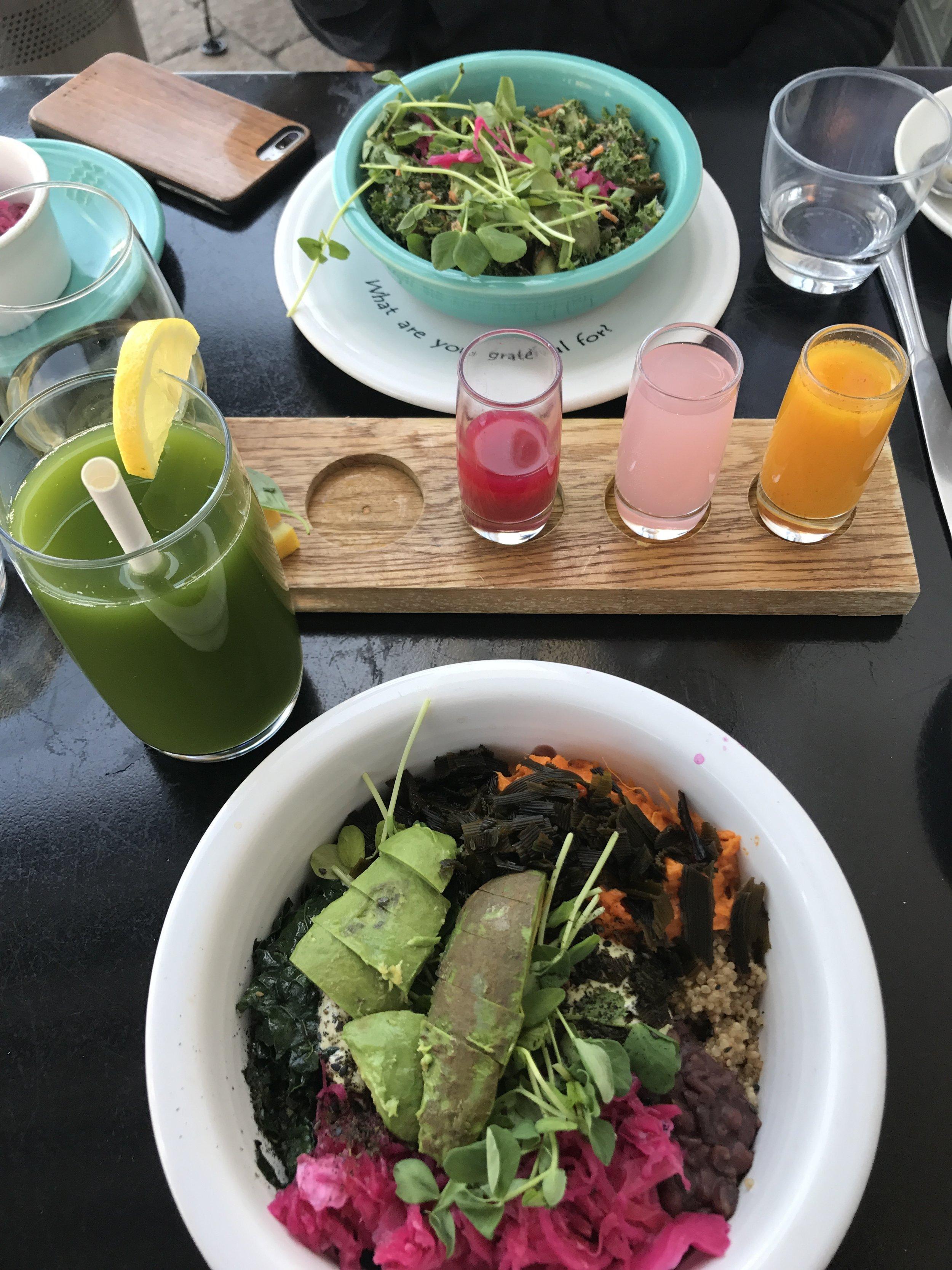 Whole bowl. Replenished pressed juice. Wellness flight.