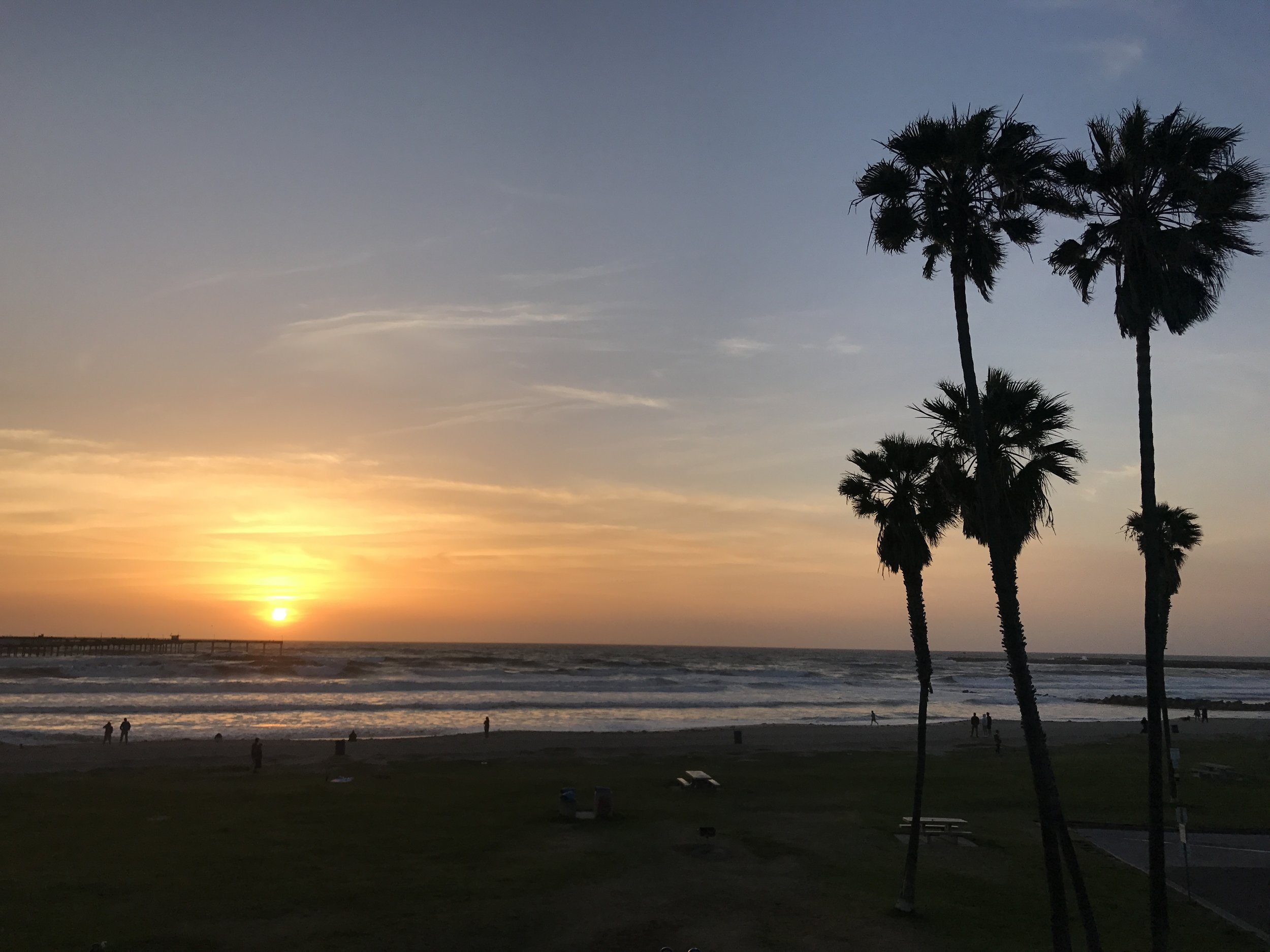 Missed those California sunsets. :)