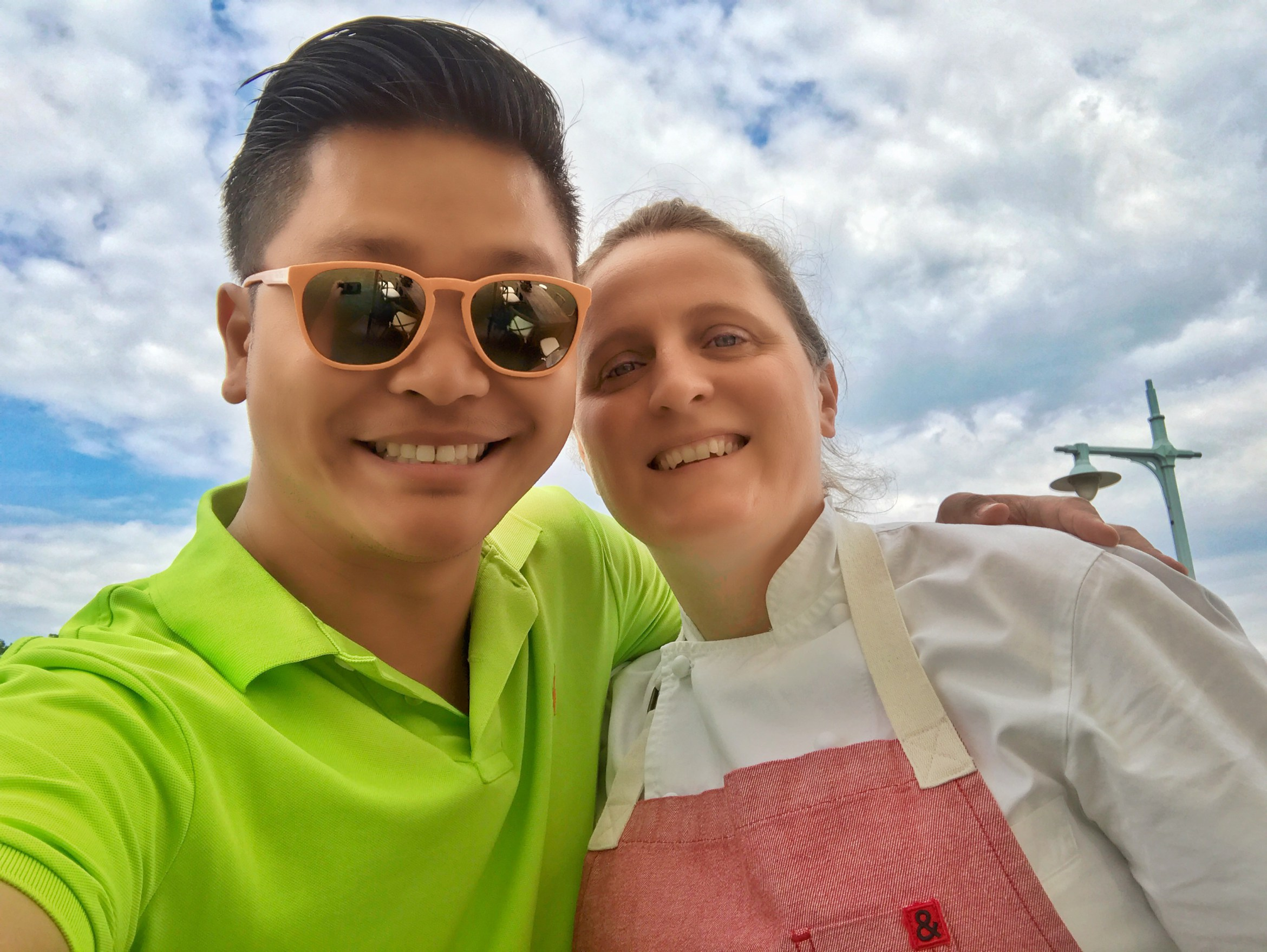 Mike's selfie with Chefs April Bloomfield