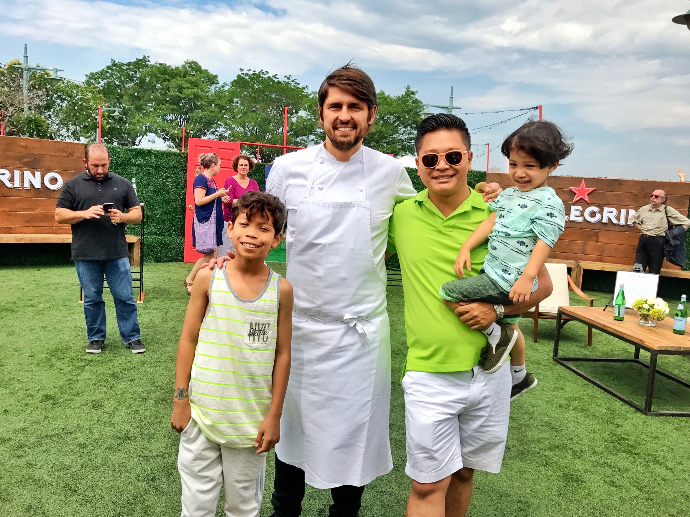 The boys and chef Ludo who was very impressed by Alvieri's Palette