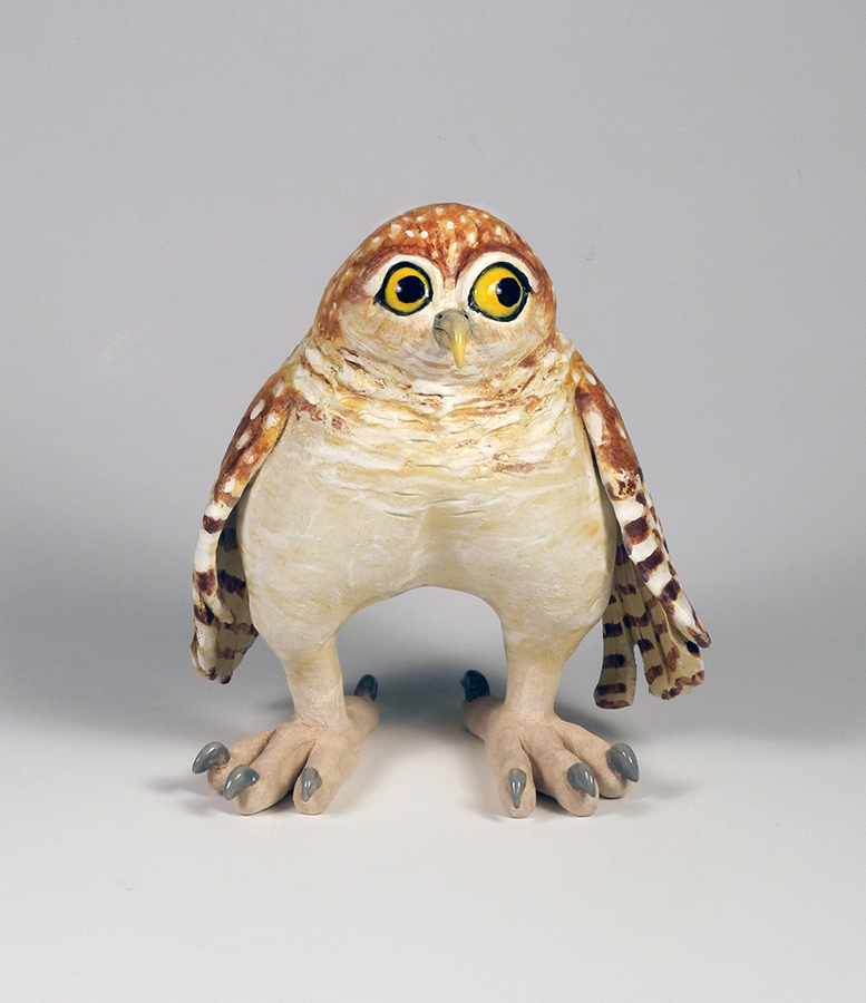 """Owl Fledgling, 8""""x7""""x5"""""""