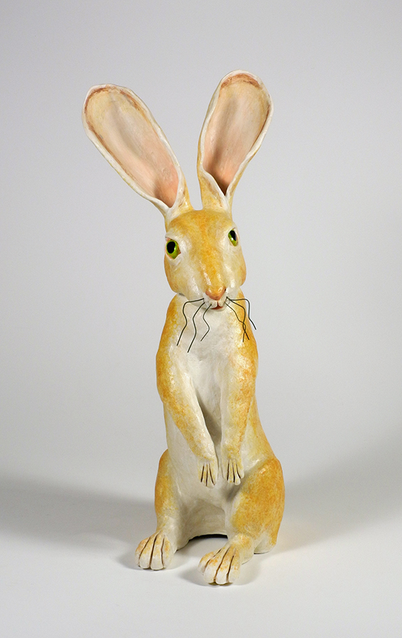 "Green Eyed Hare, 21""x9""x10"""