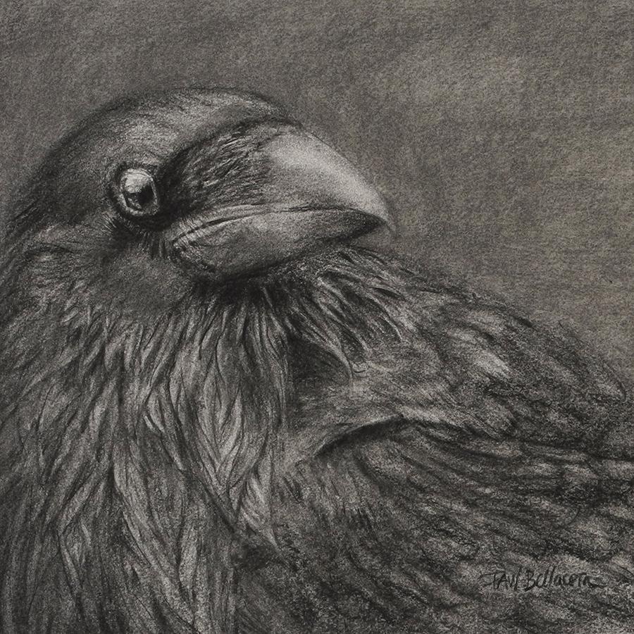 "Crow, 12"" x 12"""