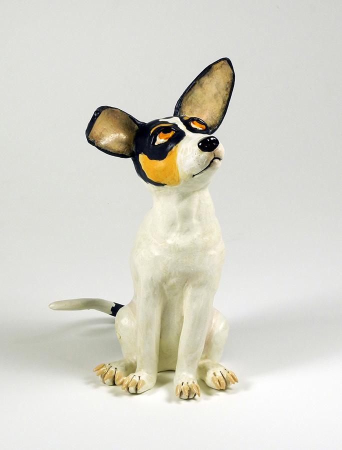 """Rat Terrier, 12""""x6""""x8"""""""