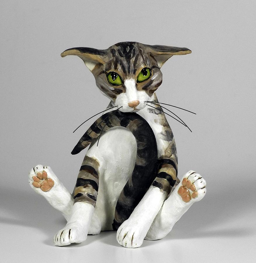 """Cat Lick, 10""""x8""""x7"""""""