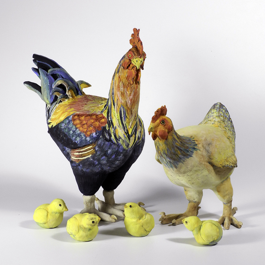 """Family, Rooster 19""""x15""""x8"""""""