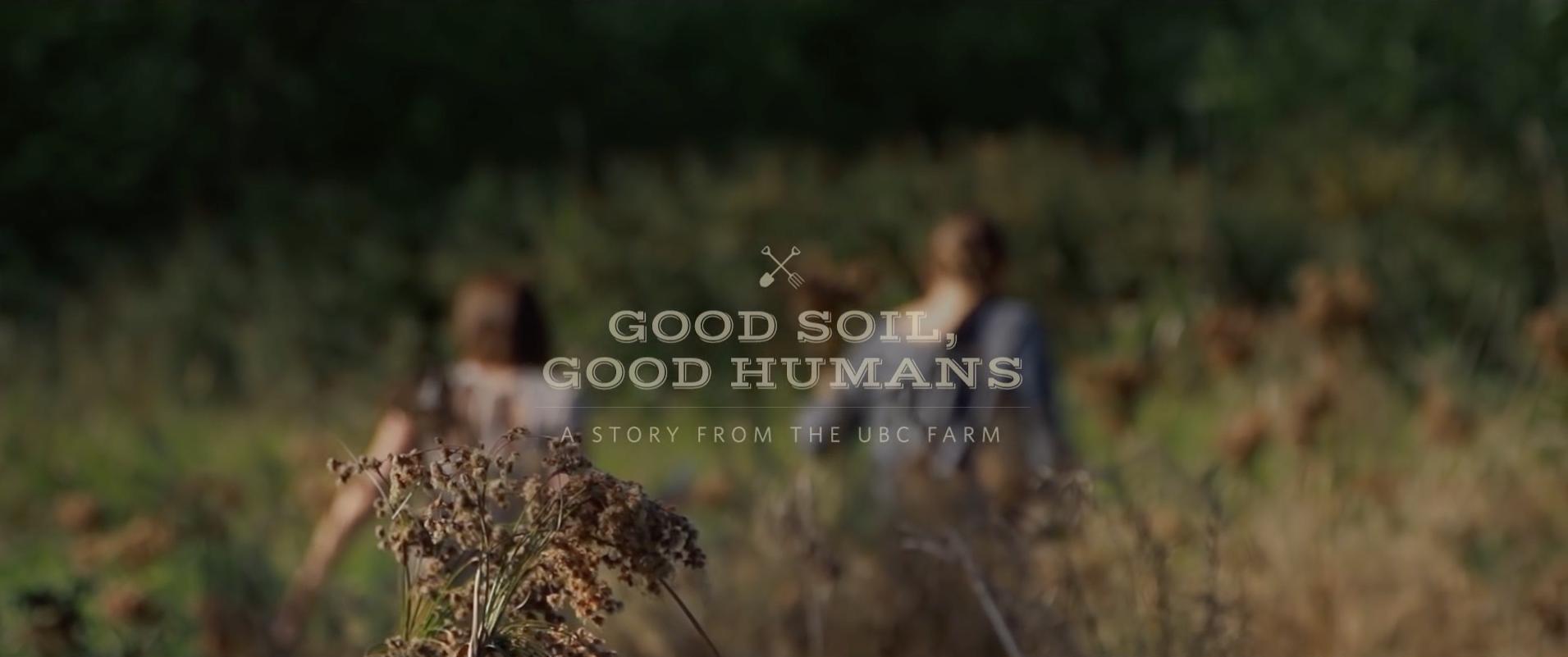 Good Soil, Good Humans