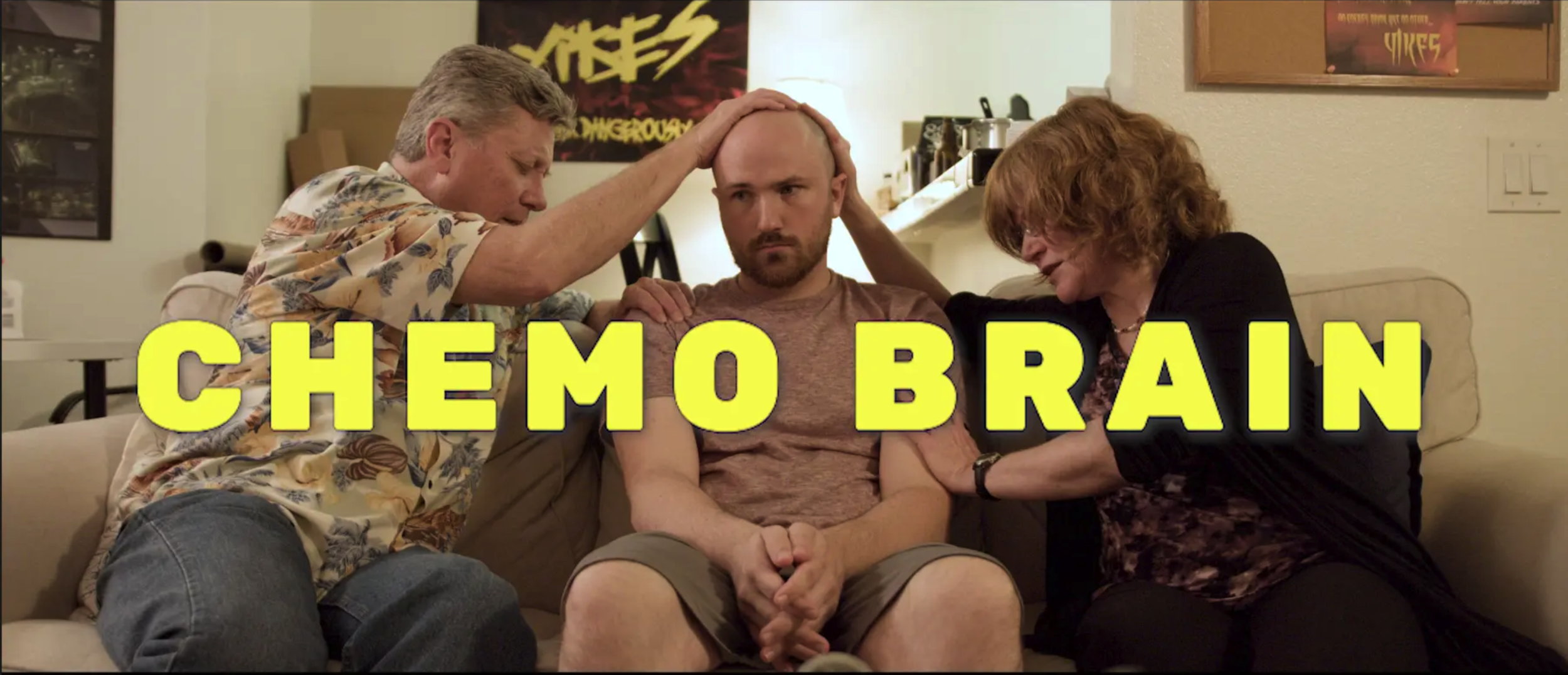 I wrote and star in this semi-autobiographical Headcase Productions short film (16 min) about a workaholic entrepreneur whose lingering health problems from his childhood chemotherapy risk thwarting the biggest opportunity of his career. It's directed by Lauren Gilbert, produced by Emily Ziegler and also stars Alivia Long, Dave Faulkner, Anne Gundry.
