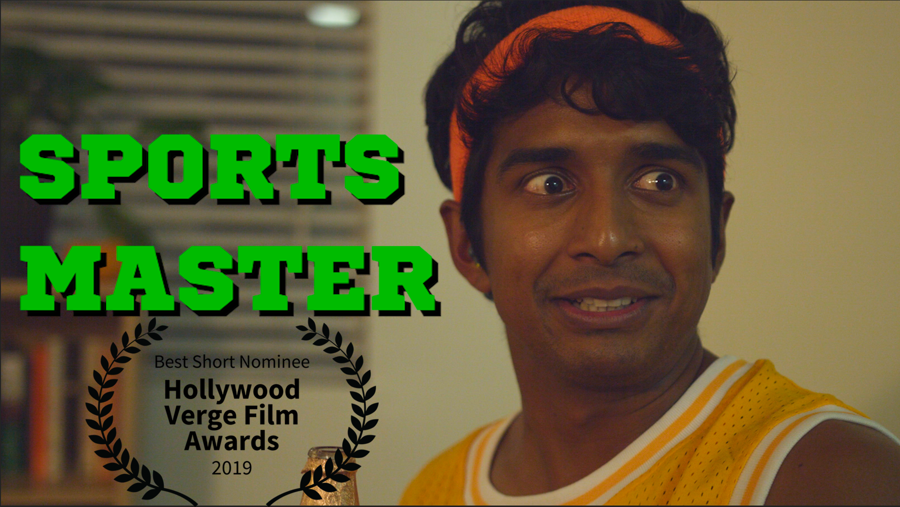 """""""Sports Master"""" (5 min) - I wrote this Headcase short about a guy so determined to convince his brother-in-law that he's into sports that he hired a team of spies to help feed him trivia. It was directed by Lauren Gilbert, stars Brandon Raman, Chris Sanders, Johanna Middleton, and Vaughn Harper. It was also nominated for Best Short at the 2019 Hollywood Verge Film Awards. Check it out HERE!"""