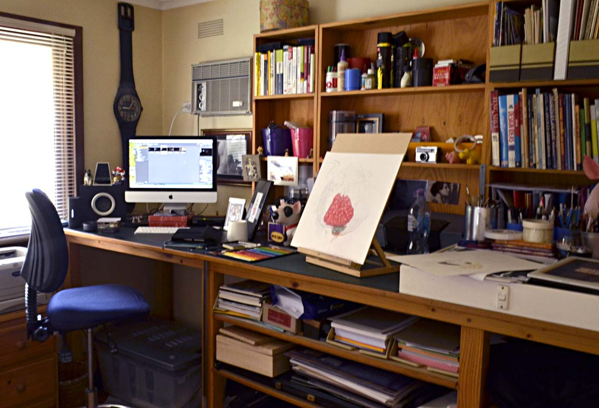 My workplace… not always this tidy!