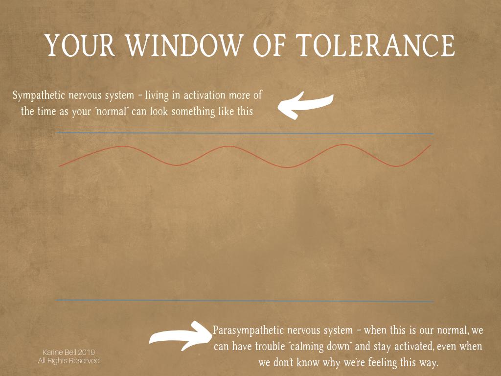 The Window of Tolerance -